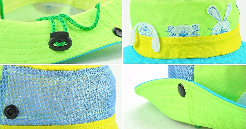 Roffatide Animal Boys Bucket Hat Packable Fishing Sun Hat Girls Summer Cap Kids Mesh Bright Boonie Hat Sun Protection