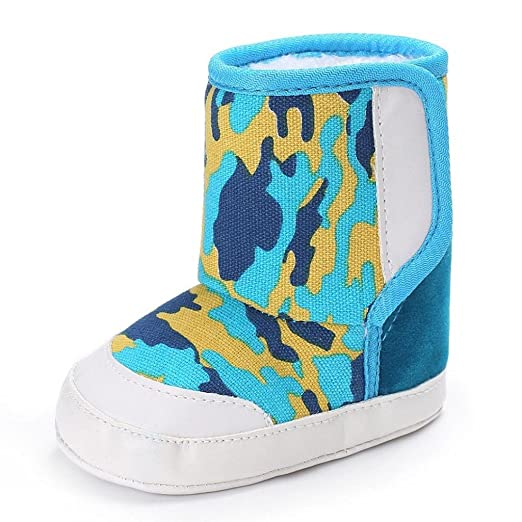 0453873c6fd83 Creazrise Camouflage Baby Soft Sole Snow Boots Soft Crib Shoes Toddler Boots  (0~6