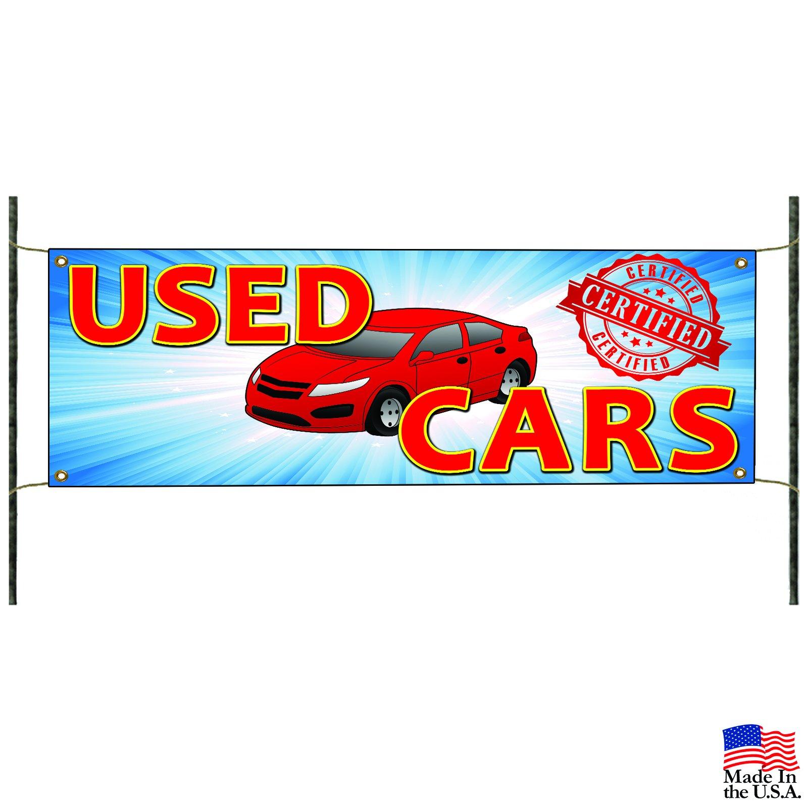 Certified Used Cars Dealer Lot Toyota Honda Vinyl Banner Sign