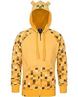 [ジンクス]JINX Minecraft Ocelot Premium ZipUp Youth Yellow Jacket Hoodie XLarge 840285190740 [並行輸入品]
