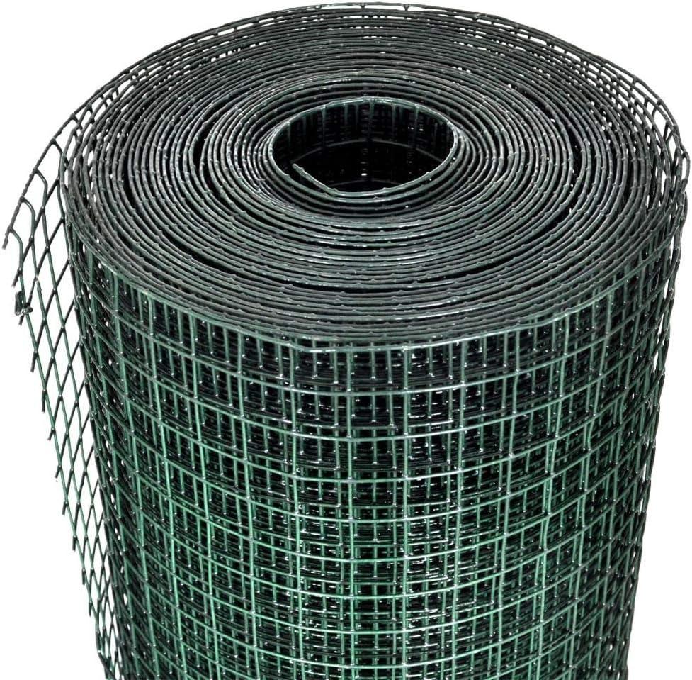 Festnight 1m x 10m Gartenzaun Drahtgitter Maschendraht W/ühlmausschutz Volierendraht Verzinkter Stahl 12x12mm