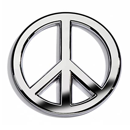 Amazon Chrome Peace Sign Car Emblem By Revolution Car Badges