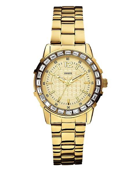 Guess W0018L2 - Reloj analógico de cuarzo para mujer con correa de acero inoxidable, color dorado: Guess: Amazon.es: Relojes
