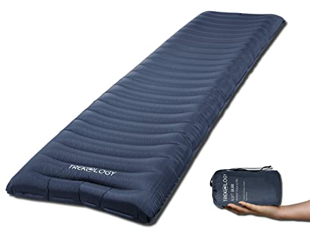 TREKOLOGY Esterilla Hinchable de Camping, Esterilla de Dormir, colchón de Acampada – Esterilla Enrollable e Inflable UL80 súper Ligera de Camping, ...