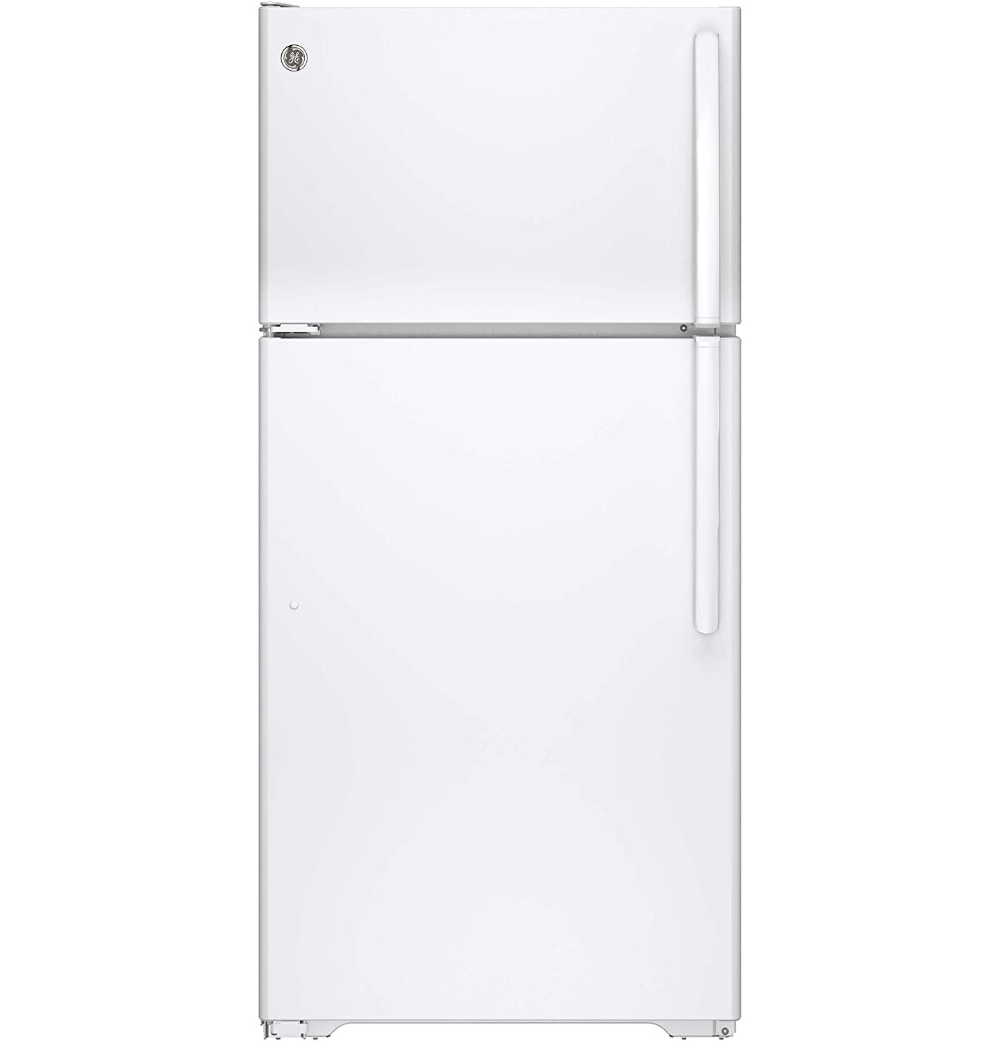 GE GTE15CTHLWW 14.6 Cu. Ft. White Top Freezer Refrigerator - Energy Star - Left Hinge