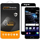 [2-Pack] Supershieldz for Huawei P10 Tempered Glass Screen Protector, [Full Screen Coverage] Supershieldz, Anti-Scratch, Bubble Free, Lifetime Replacement Warranty (Black)