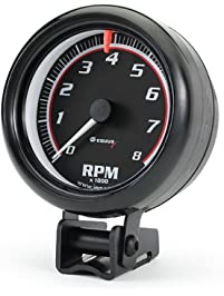 Equus 6088 Black Tachometer - Measures 3 3/8-Inches
