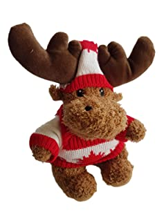 Canada Moose Plush Toy with Sweater and Hat, 9' inch 9 inch 72548 .