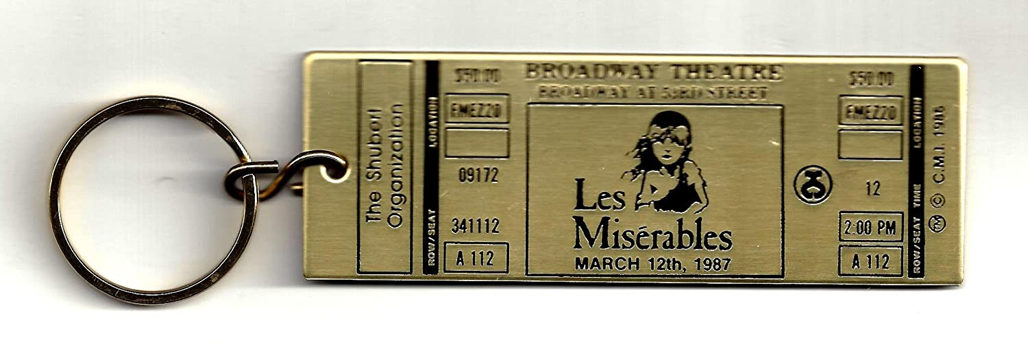 Colm Wilkinson 'LES MISERABLES' Terrence Mann / Broadway Opening Night 1987 Key Chain
