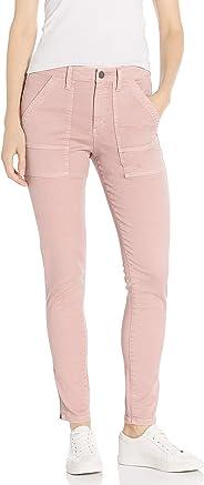 Amazon Brand - Daily Ritual Women's Stretch Cotton/Lyocell Ankle-Zip Utility Pant