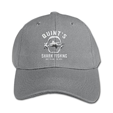 a48ef59b9 Quint's Shark Fishing Adjustable Washed Peaked Hat Fashion Truck Caps For  Kids