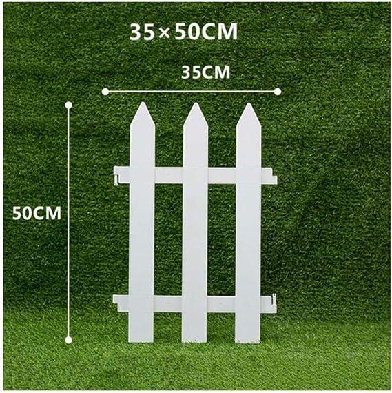 T5S6 - Valla de jardín para decoración al Aire Libre, Impermeable, PVC, Resistente a la corrosión, Color Blanco, 16 tamaños, PVC, Blanco, n: Amazon.es: Hogar