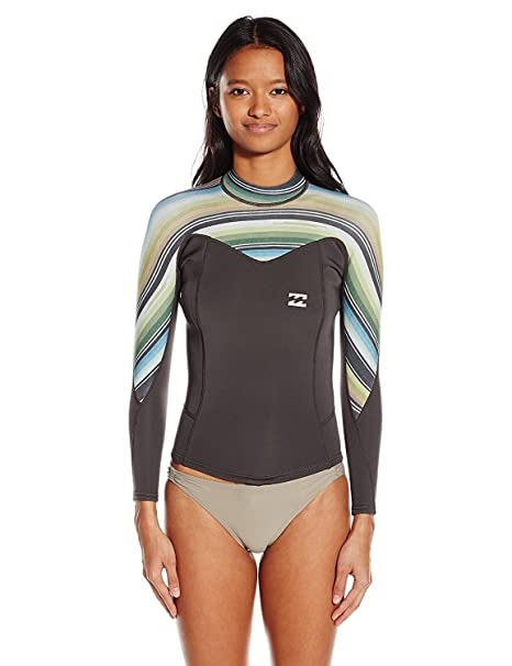 e2feda21b6816 Buy Billabong Women s 202 Synergy Back Zip Long Sleeve Wetsuit Swimsuit  Rashguard Online at Low Prices in India - Amazon.in