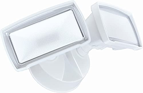 Good Earth Lighting LED Outdoor Security Flood Light, 2100 Lumens, 5000K, Dusk to Dawn Flood Light, Manual Override, 50,000 Hours, Direct Wire, Weatherproof, ETL Energy Star Certified, White Finish