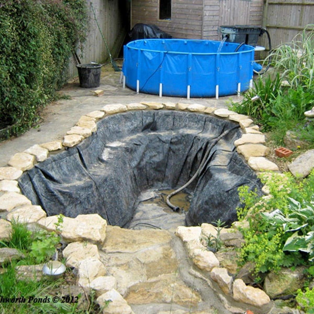 dDanke - Revestimiento de Estanque para jardín o Piscina, Resistente a Las Fugas, de PVC, Resistente a pinchazos, Color Negro: Amazon.es: Jardín