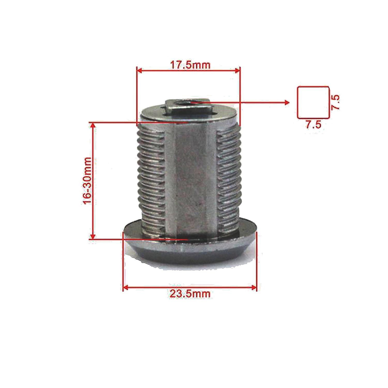 Doutop Serratura per Armadietto Blocco Del Cassetto Serrature Dellarmadio per Cassetto Letter Box con le Chiavi 16mm 20mm 25mm 30mm