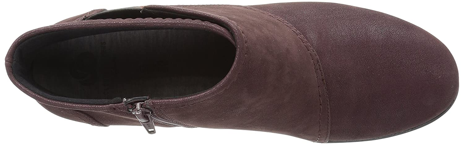 CLARKS Women's Caddell Rush Boot B01MU89KRG 9 W US|Burgundy