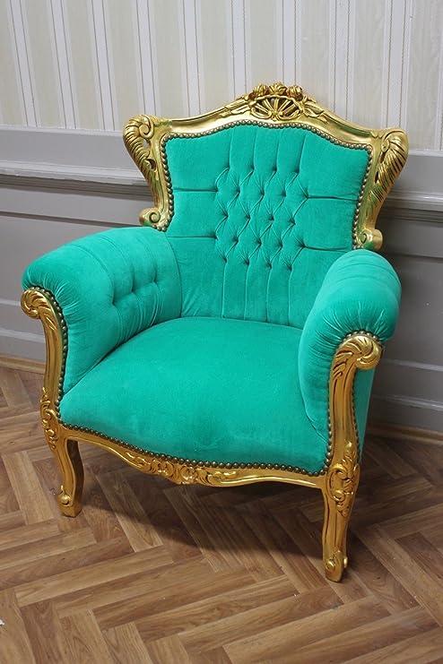 LouisXV Sillón Barroco fauteuille Antiguos Estilo rococó ...