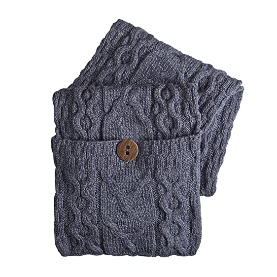 Women\'s Galway Bay Cable Knit Wool Pocket Scarf - Denim at Amazon ...
