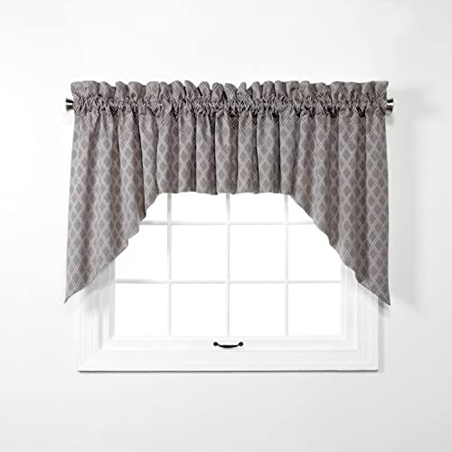 Renaissance Home Fashion Bridget Swag, 102 X 36 , Charcoal