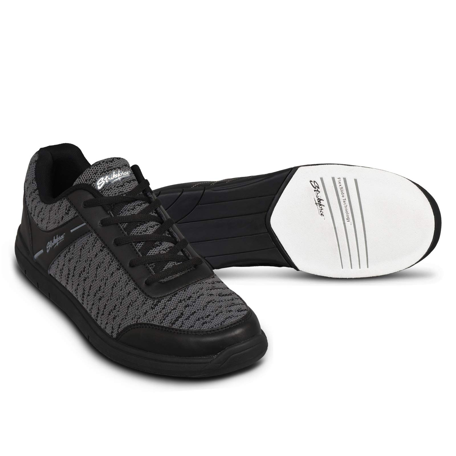 KR Strikeforce Men's Flyer Mesh Bowling Shoes, Black/Steel, Size 6