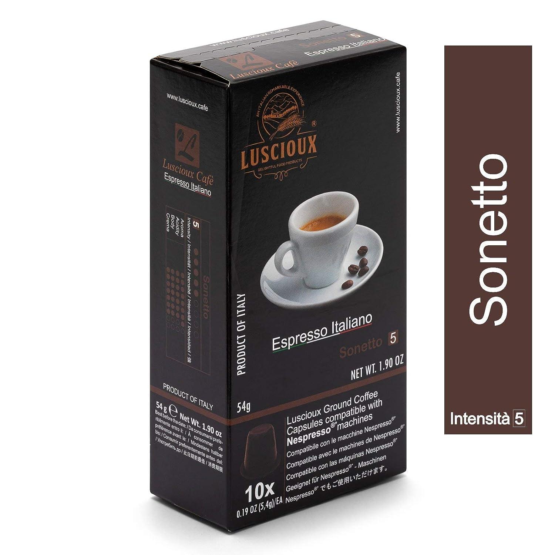 Caja de sabores – 100 cápsulas de café compatibles con cafetera Nespresso ® | 4 variedades LUSCIOUX