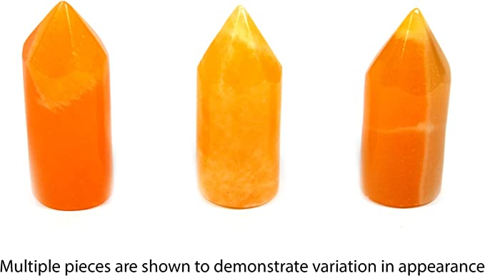 "1lbs 4.5/"" Diameter Orange And Black Crystal Stone Yin-Yang Real Onyx"