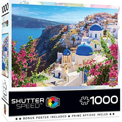 MasterPieces ShutterSpeed - Santorini Spring 1000-Piece Jigsaw Puzzle: Toys & Games