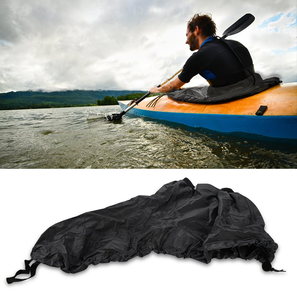 T-best Kayak Sprayskirt Cover,Universal Nylon Marine Boat Canoe Kayak Splash Spray Skirt Deck Sprayskirt Waterproof Cover (Black)