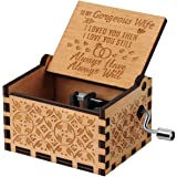 You are My Sunshine Wood Music Boxes,Laser Engraved Vintage Wooden Sunshine Musical Box Gifts for Birthday/Christmas…