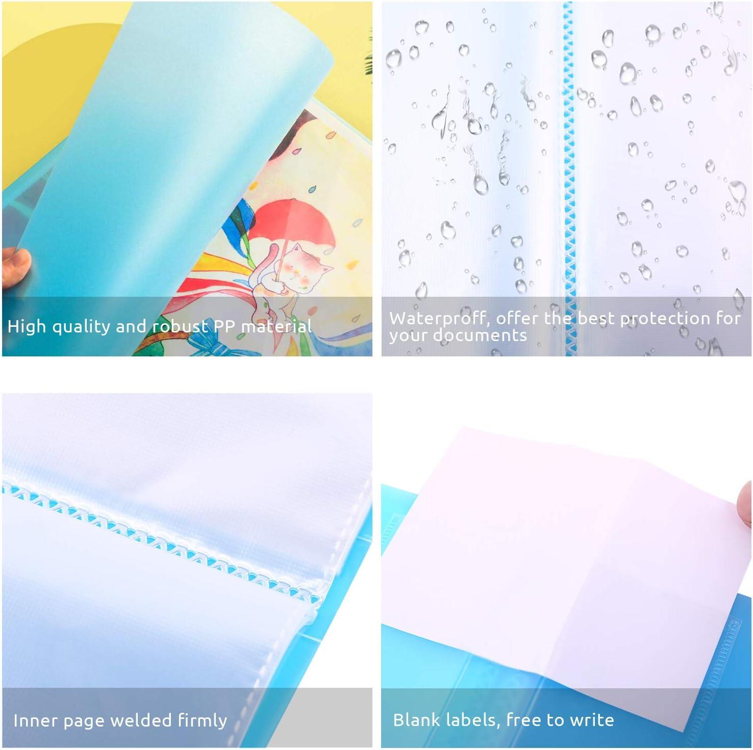 PP Portalistino Cartella del progetto di presentazione formato A3 con 40 tasche trasparenti capacit/à 80 fogli per presentazioni e progett