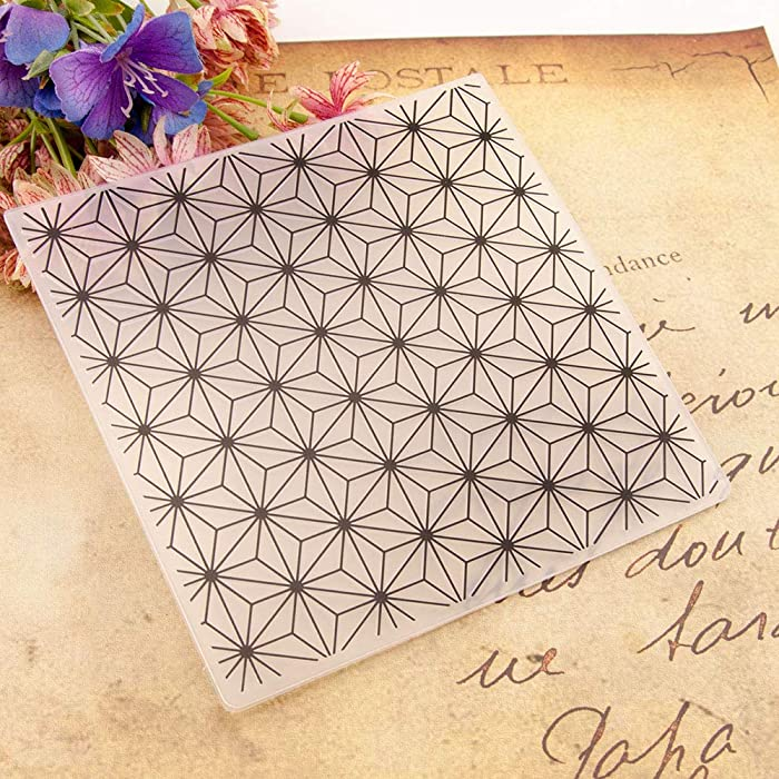 Welcome to Joyful Home 1PC Flower Background Embossing Folder for Card Making Floral DIY Plastic Scrapbooking Photo Album Card Paper DIY Craft Decoration Template Mold 11x16cm