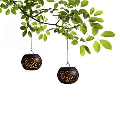 Decorative Lanterns Candle Lantern Soft Flickering LED Vintaged Decor Lantern for Weddings Lobby Patio Home Decoration Antique Copper Metal Lantern Suitable For Both Indoor And Outdoor Use(Pack of 2) : Garden & Outdoor