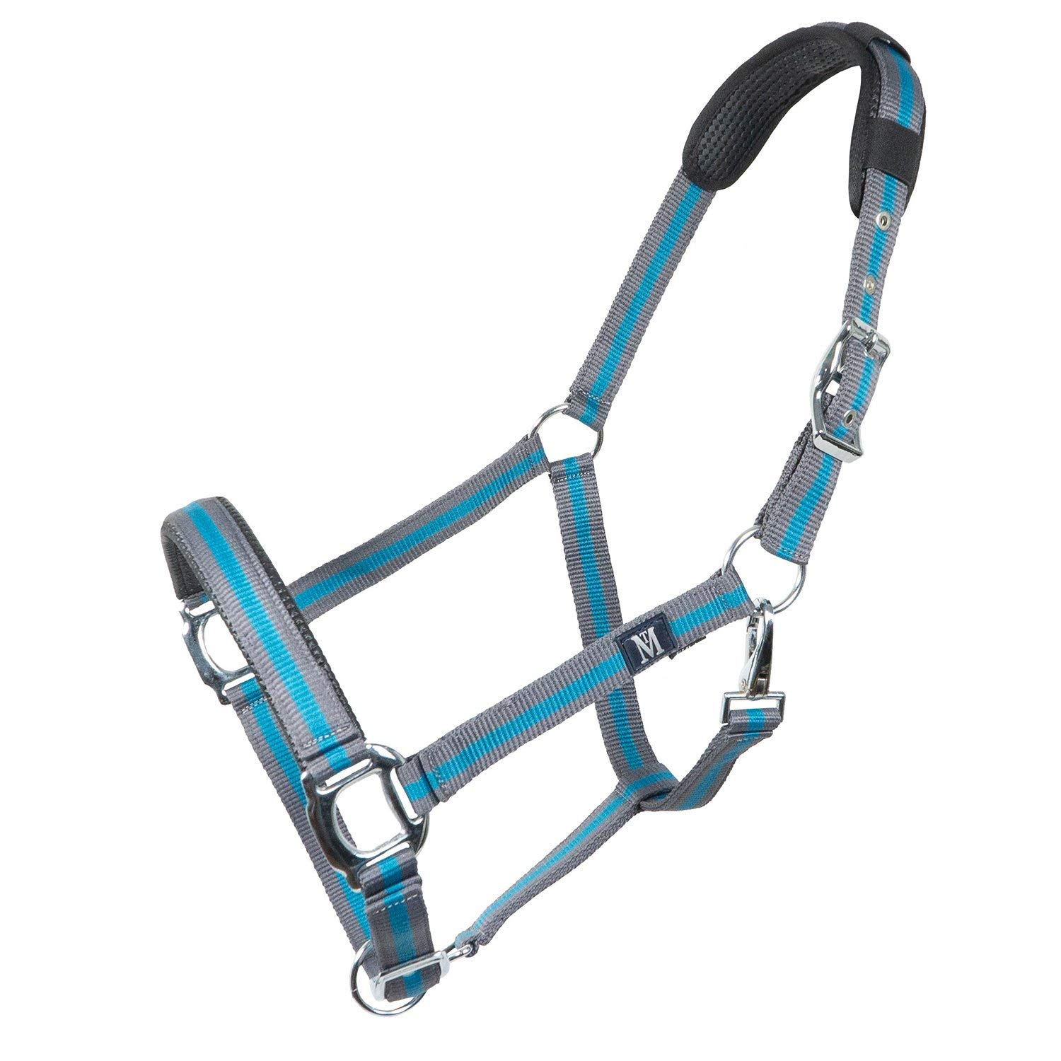 Anthracite Petrol Full Size Anthracite Petrol Full Size Mark Todd Headcollar Deluxe Padded with Lead Rope Head Collar