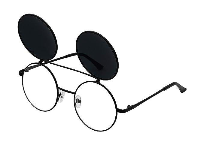Amazon.com: J&L - Gafas de sol redondas estilo retro ...