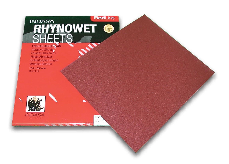 REDLINE XL RHYNOWET SHEETS 9' X 11' 600 GRIT 50/box Indasa