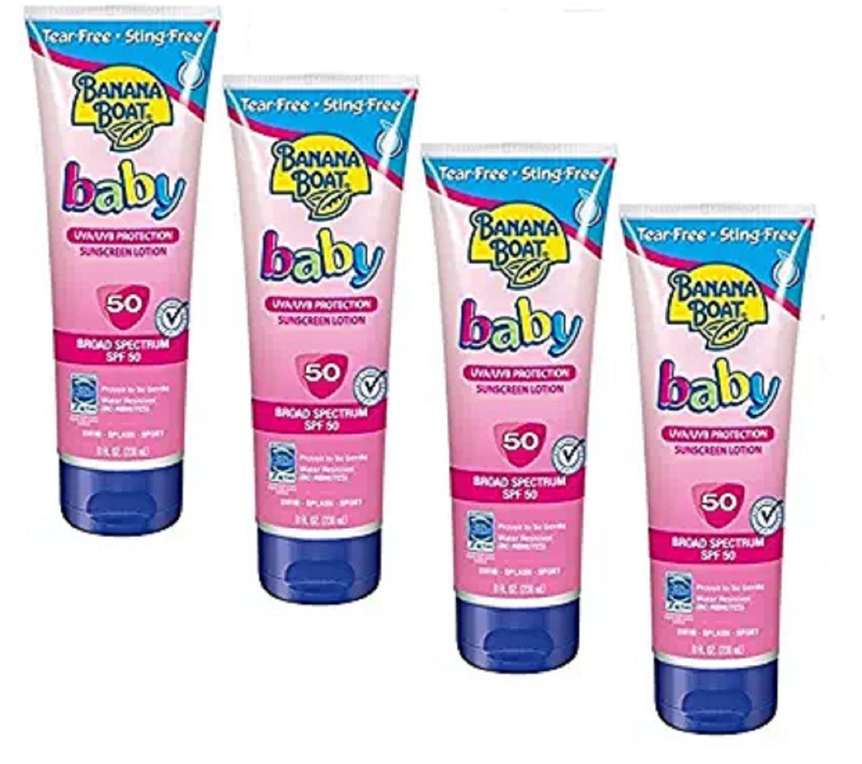 Banana Boat Baby Sunscreen Tear-Free Sting-Free Broad Spectrum Sun Care Sunscreen Lotion - SPF 50, 8 Ounce 3254422