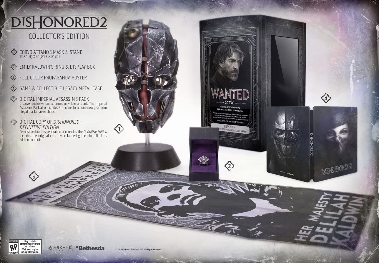 Amazon Com Dishonored 2 Premium Collector S Edition Playstation 4