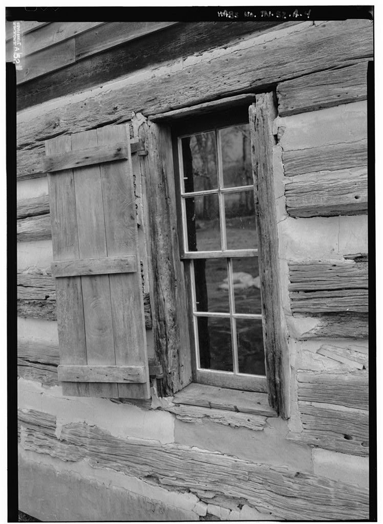 Vintography 8 x 12 Photo 4. Perspective View The North Elevation to Show Window - The Hermitage, West Cabin, 4580 Rachel's Lane, Hermitage, Davidson County, TN 1880 64a
