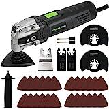 GALAX PRO 3.5A Kit de herramientas oscilantes de 6 velocidades variables con cambio de sistema de abrazadera rápida y 30 acce