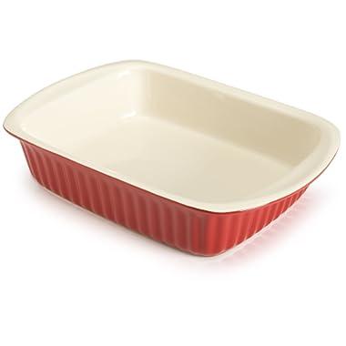 Good Cook 2.5 Quart Rectangle Ceramic Dish, Red