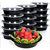 [25 Set- 24oz] Meal Prep Containers with Lids Ideal-Lunch Containers, Food Prep Containers, Food Storage Bento Box…