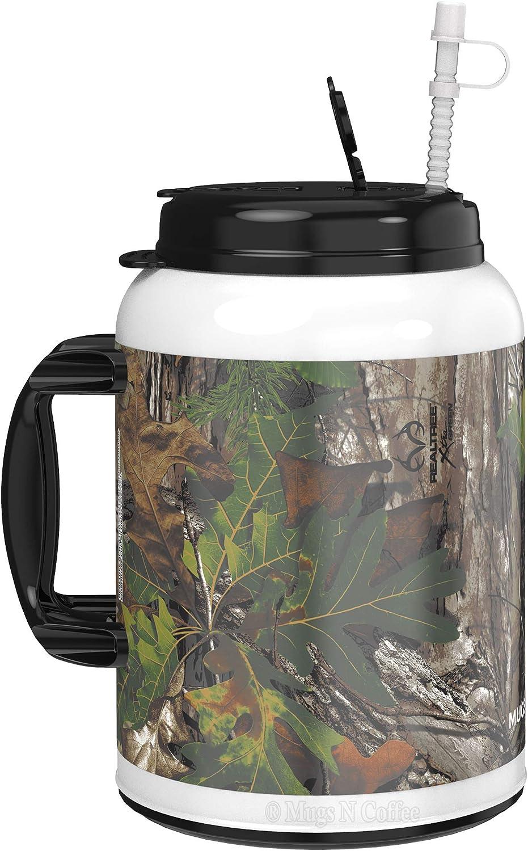 100 oz RealTree Camo Mug with Reusable Straw - BPA Free - Made in the USA