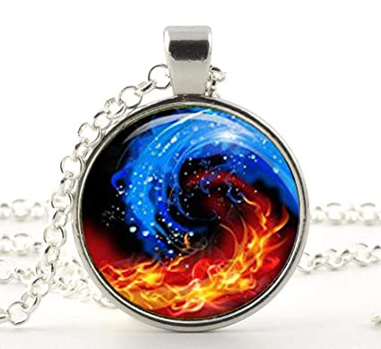 Amazoncom Handmade Yin Yang Fire And Ice Pendantastrology