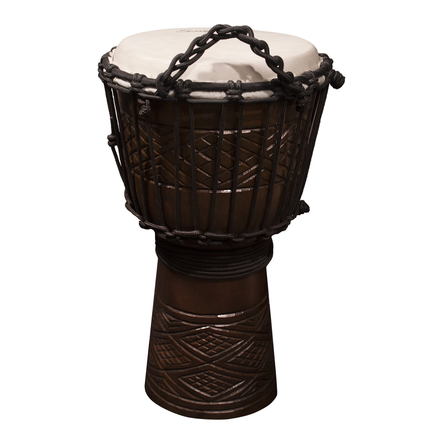Sawtooth Tribe Series 8'' Hand Carved Congo Design Rope Djembe