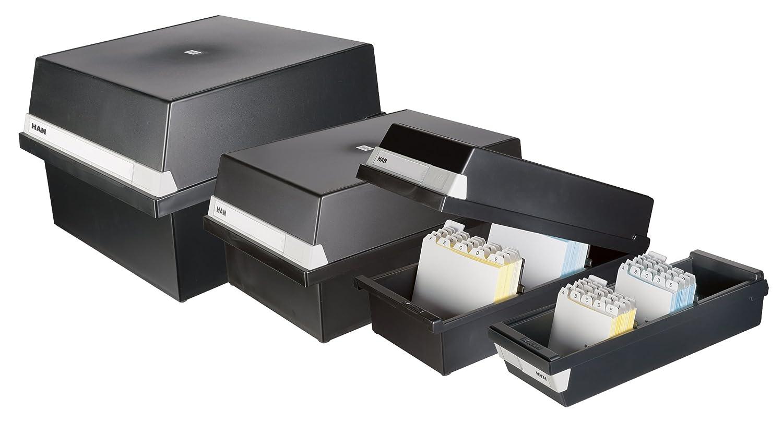 colore: grigio chiaro formato A4 orizzontale capacit/à: 1.300 schede circa Contenitore per archivio 320 x 250 x 360 mm HAN 954-11