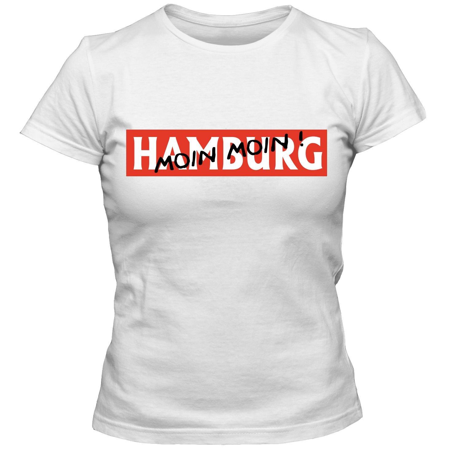 400b9d27040d Damen T-Shirt HAMBURG MOIN MOIN ! Tee S-3XL  Amazon.de  Bekleidung