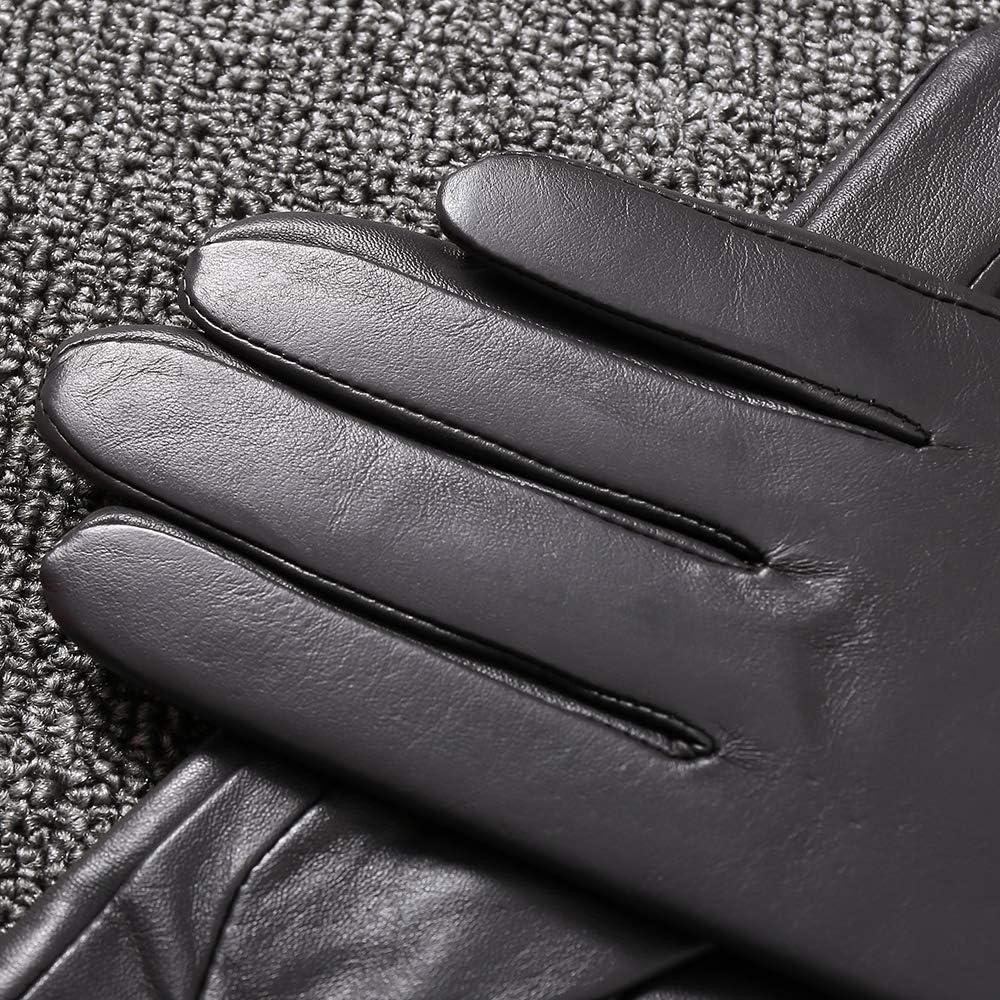 Acdyion Damen Winterhandschuhe Echtleder Lederhandschuhe Touchscreen echtes Leder Kaschmirfutter Autofahren Outdoor Winddicht Wasserdicht