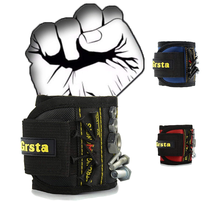 Wristband magnético con los imanes fuertes para los tornillos de la explotación agrícola, clavos, pedacitos de taladro - el mejor regalo de la herramienta ...