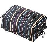 エムール そばがら 高さが調整できる ごろ寝枕 25×18×8~12cm 日本製 縞木綿 紺色